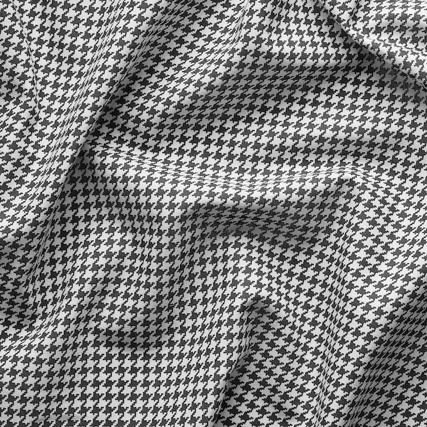 ORDENSFLY Curtains, 1 pair, white/dark grey, 145x300 cm