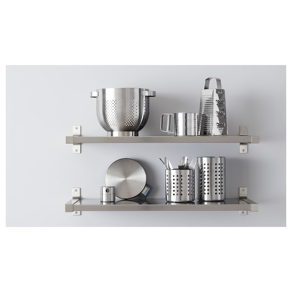 ORDNING رف أدوات المطبخ., ستينلس ستيل, 18 سم
