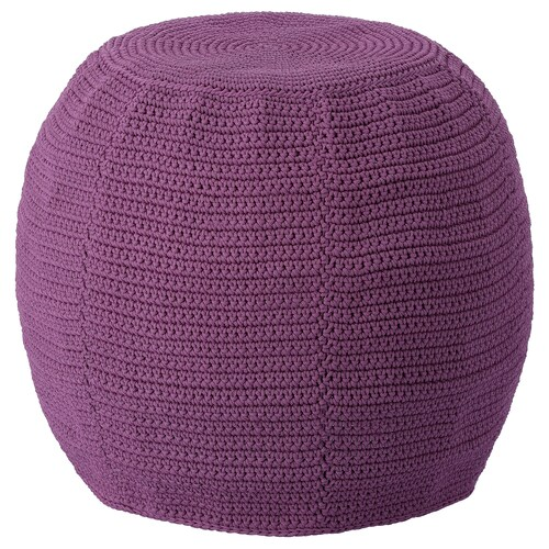 OTTERÖN / INNERSKÄR pouffe, in/outdoor purple 41 cm 48 cm