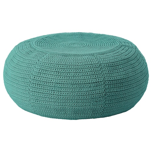 OTTERÖN / INNERSKÄR pouffe, in/outdoor dark green 24 cm 58 cm