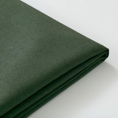 PÄRUP غطاء كنبة ثلاث مقاعد, مع أريكة طويلة/Vissle أخضر غامق