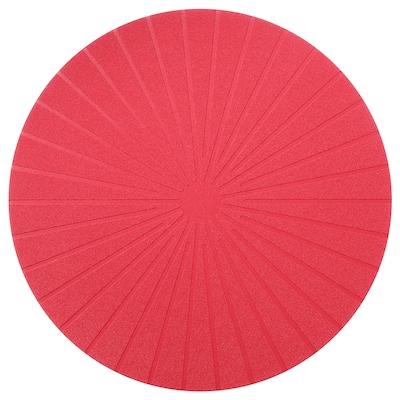 PANNÅ Place mat, red, 37 cm