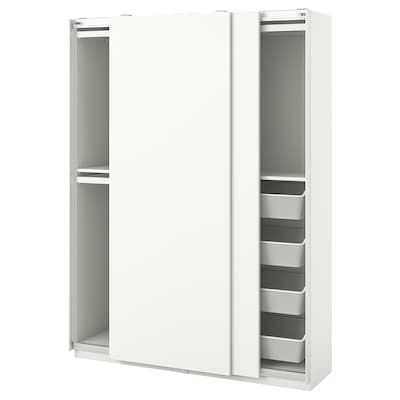PAX / HASVIK تشكيلة دولاب ملابس., أبيض, 150x44x201 سم