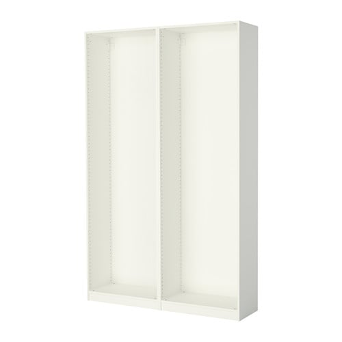 Pax إطارين لخزانة الملابس أبيض