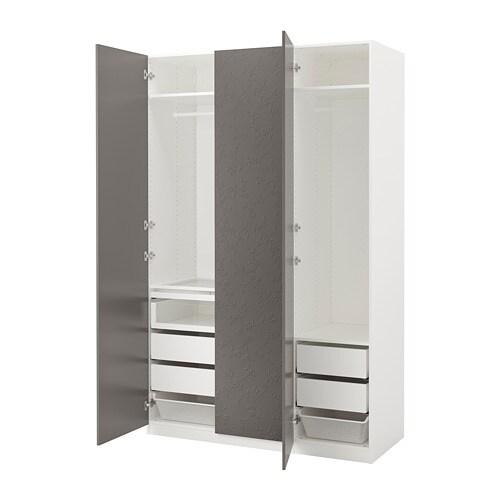 Dark Ikea Closing Grey Hinge WardrobeWhiteFlornes Soft Pax EH9WDI2