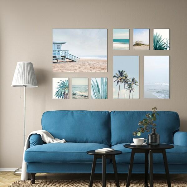 PJÄTTERYD Picture, set of 9, Coastal escape, 179x112 cm