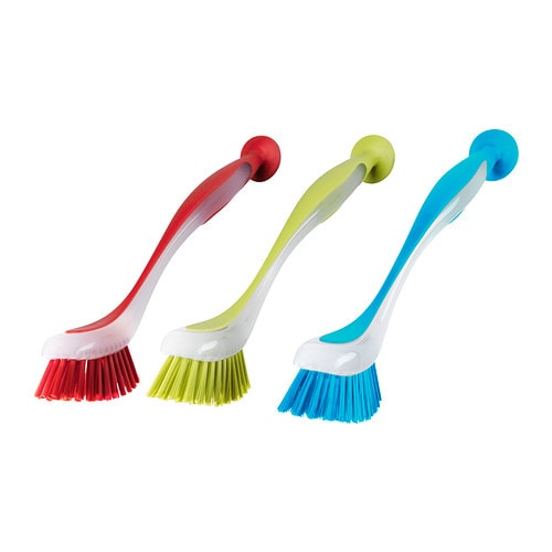 PLASTIS Dish-washing brush   Sticks to sinks, tiles etc.  , thanks to the suction cup.