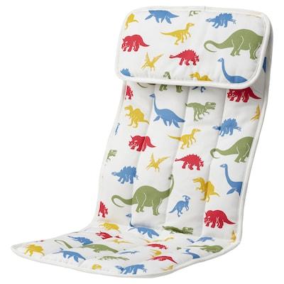 POÄNG وسادة كرسي مع مساند للذراعين للطفل, Medskog/نقش ديناصور