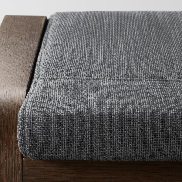 POÄNG Footstool, brown/Hillared anthracite