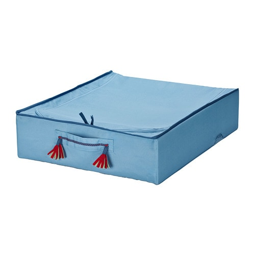 PYSSLINGAR Bed storage box   Practical storage for toys, extra blankets etc.  Can be folded to save space when not in use.