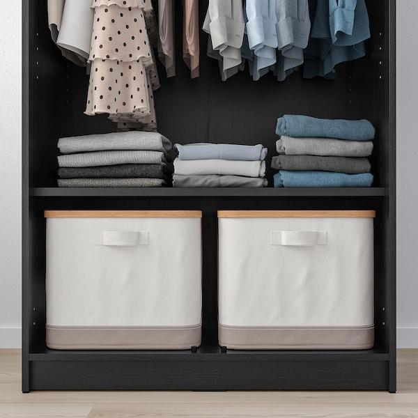 RAKKESTAD Wardrobe with 2 doors, black-brown, 79x176 cm