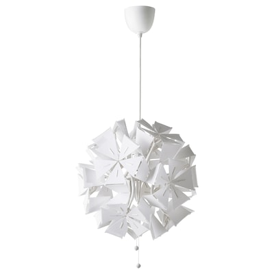 RAMSELE Pendant lamp, geometric/white, 43 cm
