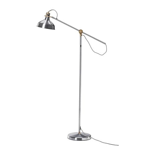 RANARP Floor/reading lamp   You can easily direct the light where you want it because the lamp arm and head are adjustable.