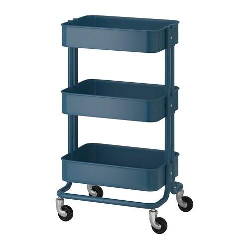 RÅSKOG Trolley, dark blue