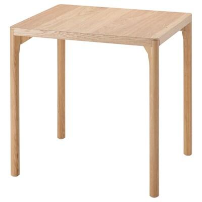 RÅVAROR Dining table, oak veneer, 60x78 cm