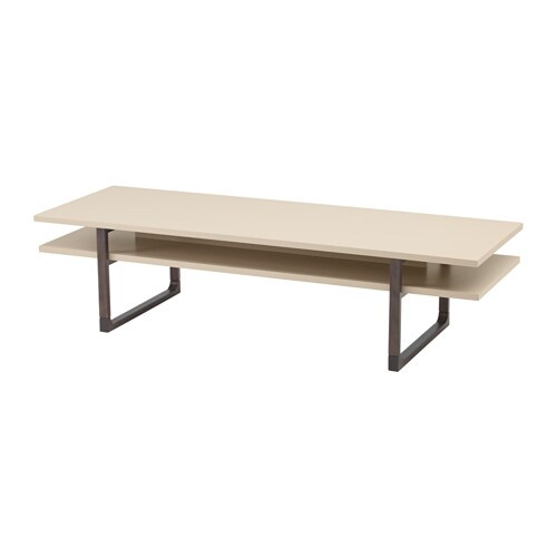 Rissna coffee table ikea for Table basse laquee beige