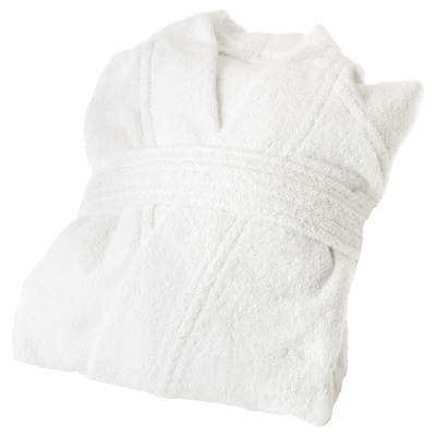 ROCKÅN Bath robe, white, S/M
