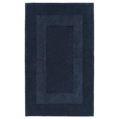 RÖDVATTEN Bath mat, dark blue, 50x80 cm