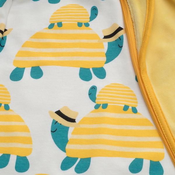 RÖRANDE Sleeping bag, turtle/yellow
