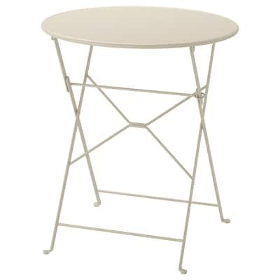 SALTHOLMEN طاولة، خارجية, قابل للطي بيج, 65 سم