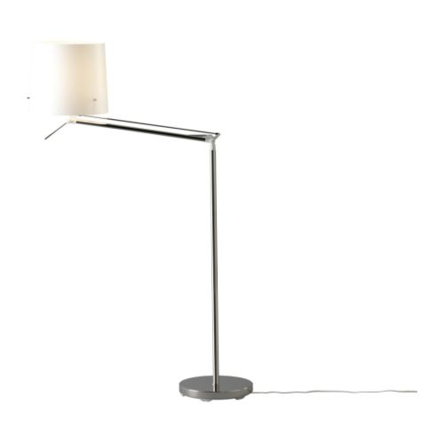 SAMTID Floor/reading lamp   Gives both directed and diffused light.  Diffuser makes the light more agreeable for the eyes.