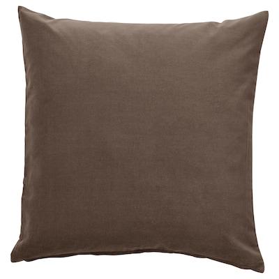 SANELA Cushion cover, grey/brown, 50x50 cm