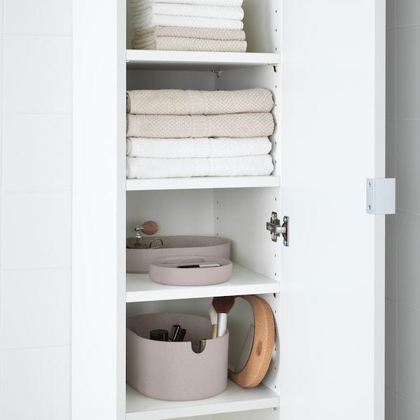SAXBORGA صندوق تخزين مع غطاء مرآة, بلاستيك عازل حرارة من الفلّين, 24x17 سم
