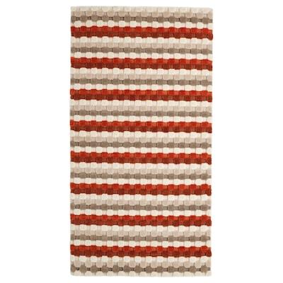 SKANDERUP Rug, flatwoven, handmade/beige rust, 80x150 cm