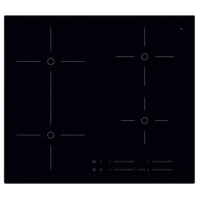 SMAKLIG Induction hob, black, 59 cm