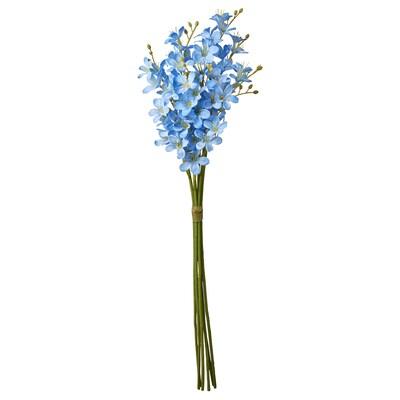 SMYCKA زهور صناعية, داخلي/خارجي/فريزيا أزرق, 43 سم