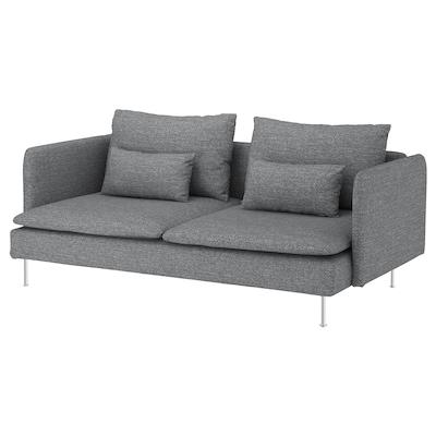 SÖDERHAMN 3-seat sofa, Lejde grey/black