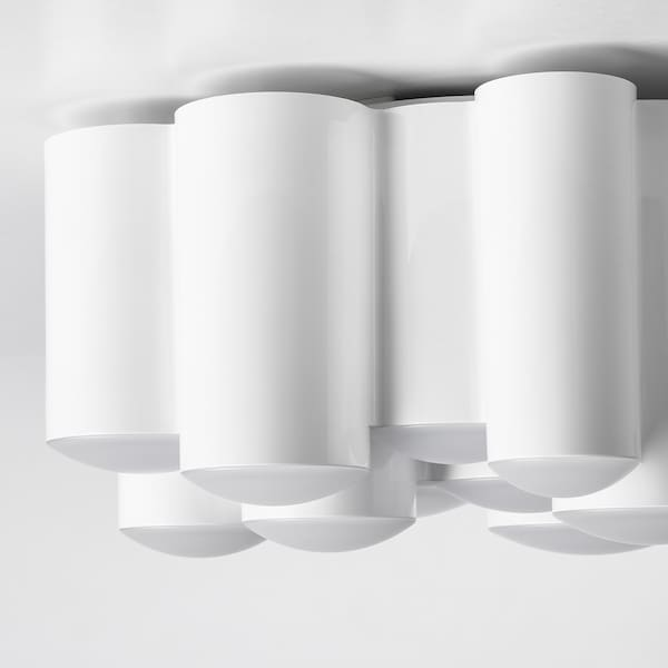 SÖDERSVIK LED ceiling lamp, white/glossy, 21 cm