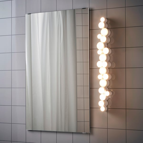 SÖDERSVIK LED wall lamp, white/glossy, 70x10 cm