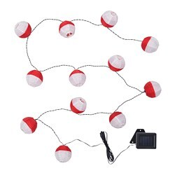 SOLVINDEN LED lighting chain with 12 bulbs