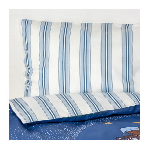 SOVDAGS 3-piece bedlinen set for cot