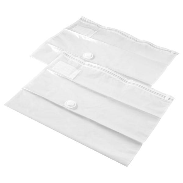 SPANTAD Vacuum-sealed bag, light grey, 67x100 cm 2 pieces