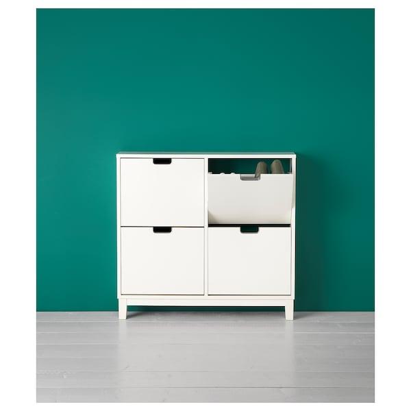 STÄLL خزانة أحذية بـ 4 حجيرات, أبيض, 96x90 سم