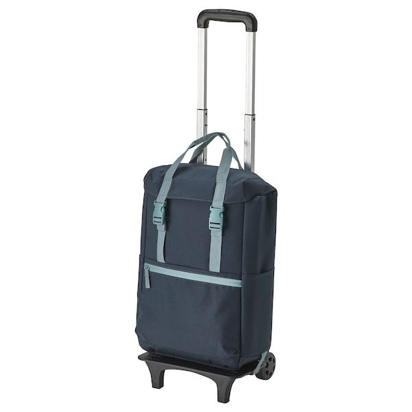 STARTTID Backpack on wheels, blue, 19 l