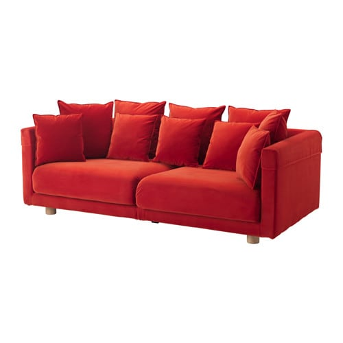 Sofa Images stockholm 2017 three-seat sofa - sandbacka orange - ikea