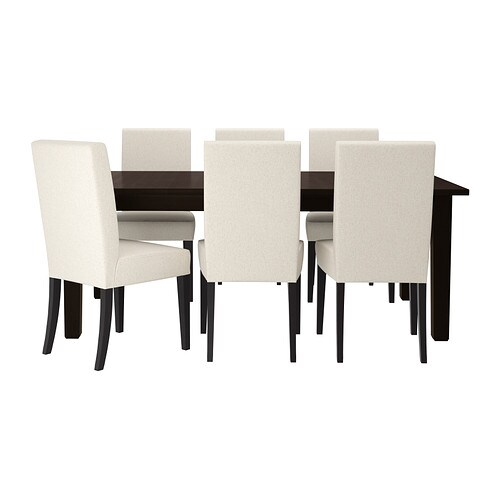 STORNÄS / HENRIKSDAL Table and 6 chairs   It's quick and easy to change the size of the table to suit your different needs.