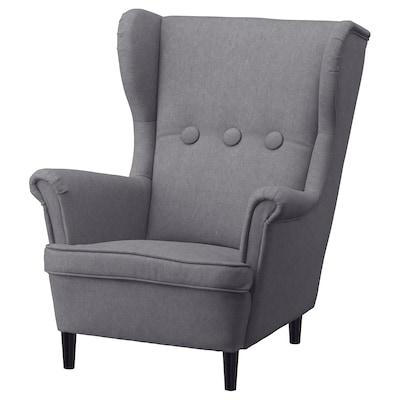 STRANDMON كرسي أطفال مع مساند للذراعين, Vissle رمادي