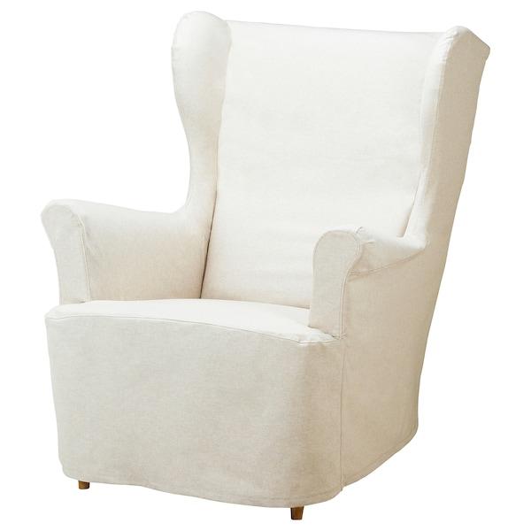 STRANDMON Cover for armchair, beige