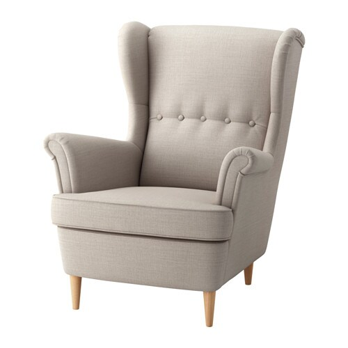 Strandmon Wing Chair Skiftebo Light Beige