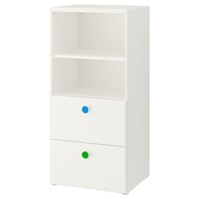 STUVA / FÖLJA تشكيلة تخزين, أبيض, 60x50x128 سم