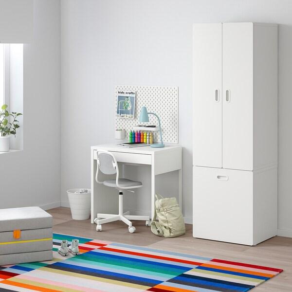 STUVA / FRITIDS دولاب ملابس مع مخزن للألعاب, أبيض/أبيض, 60x50x192 سم