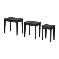 SUNDSTA Nest of tables, set of 3