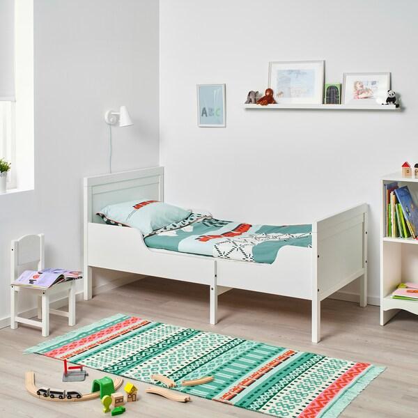 SUNDVIK Extendable bed, white, 80x200 cm