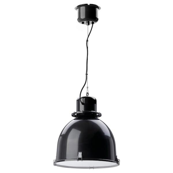 SVARTNORA Pendant lamp, black, 38 cm