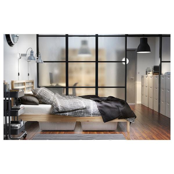 TARVA Bed frame, pine/Leirsund, 140x200 cm