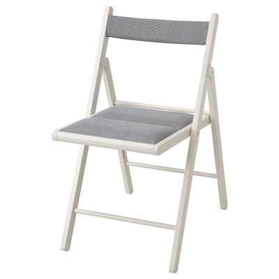 TERJE كرسي قابل للطي, أبيض/Knisa رمادي فاتح